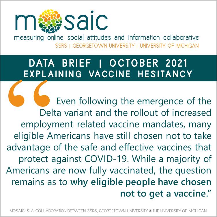 explaining vaccine hesitancy MOSAIC